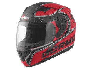 GM 420 Junior Kinder Helm matt-rot/schwarz