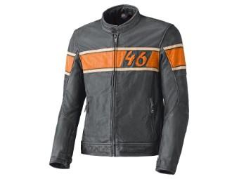 Stone Retro Lederjacke beige/orange