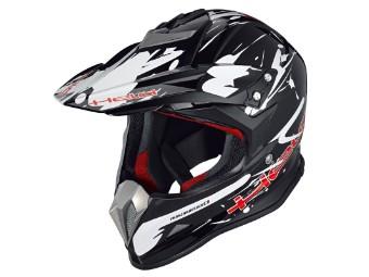 Holeshot MX / Enduro Helm schwarz/weiss