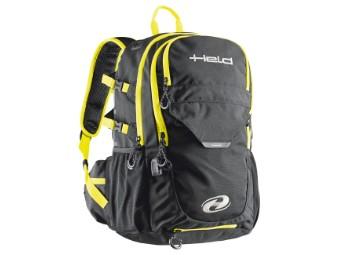 Power-Bag Motorrad Rucksack 20 Liter schwarz/neon-gelb