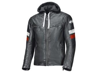 Macs Lederjacke schwarz/weiß