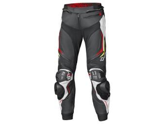 Grind 2 Lederhose schwarz/weiß/rot