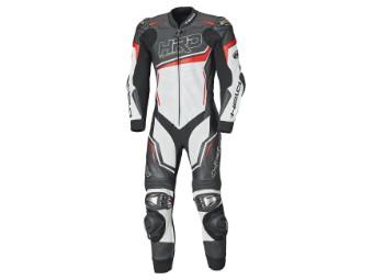 Slade 2 Motorrad Lederkombi 1-Teiler Schwarz/Weiß/Rot