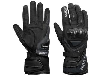 Kansas sportliche Sommer Motorrad Handschuhe schwarz