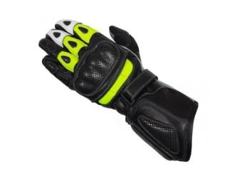 Plaus Handschuhe Motorrad schwarz/neon-gelb
