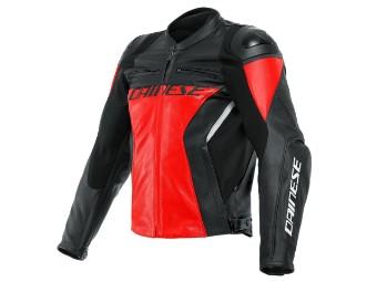 Racing 4 Lederjacke rot/schwarz