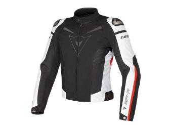 Super Speed Tex Jacke schwarz/rot