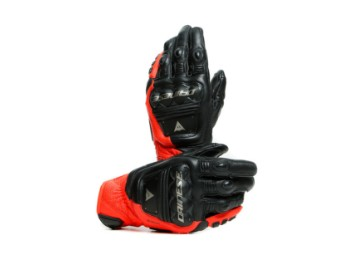 4-Stroke 2 Handschuhe Schwarz/Fluo-Rot