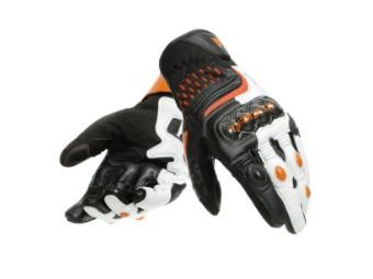Carbon 3 Short Handschuhe schwarz/weiss/orange
