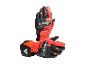 Carbon 3 Long Handschuhe schwarz/neon-rot/weiss
