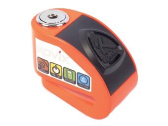 KD6 Brems-Scheibenschloss mit Alarm fluo-orange