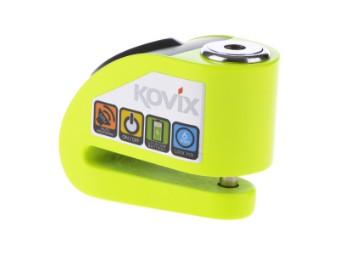 KD6 Brems-Scheibenschloss mit Alarm grün-fluo / neon-gelb