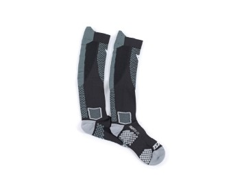 D-Core High Socks Motorrad Socken schwarz/anthrazit