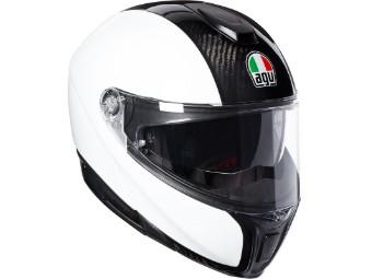 Sportmodular Carbon Klapp-Helm Carbon/Weiß