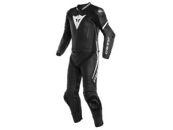 Laguna Seca 4 2-Teiler Lederkombi schwarz/schwarz/weiss