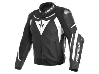 Super Speed 3 Lederjacke schwarz/weiß