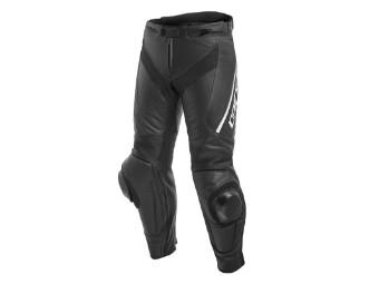Delta 3 Lederhose schwarz/weiß