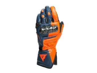 Carbon 3 Long Handschuhe schwarz-iris(blau)/orange/neon-rot
