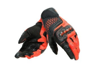 Carbon 3 Short Handschuhe schwarz/neon-rot