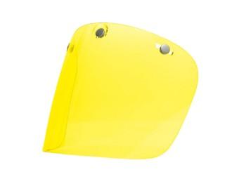 Legend Flat anköpfbares Jet-Helm Visier antifog gelb