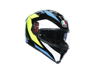 K5 S Core Helm schwarz/cyan/gelb