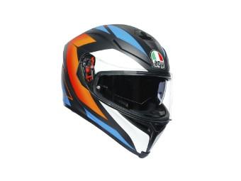 K5 S Core Helm schwarz/blau/orange