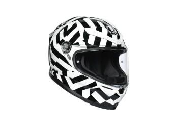 K6 Secret Helm schwarz/weiss