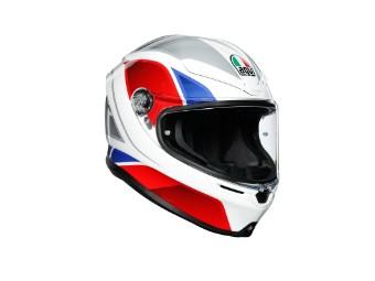 K6 Hyphen Helm weiss/rot/blau