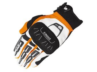 Backflip Handschuh weiß/orange