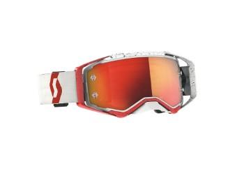 Prospect Goggle Glas: orange chrom Rot/Weiß