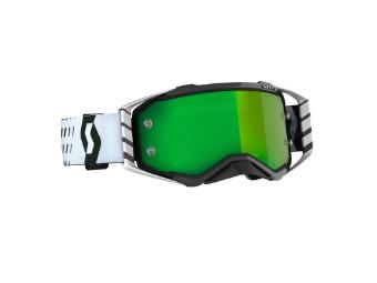 Goggle Prospect schwarz/weiß Glas: grün chro wks