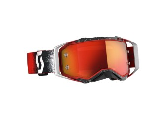 Prospect Goggle Brille weiss/rot