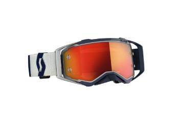 Goggle Prospect grau/dunkel blau Glas: orange chrom wks