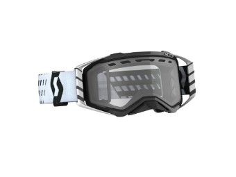 Goggle Prospect Enduro schwarz/weiß Glas: klar