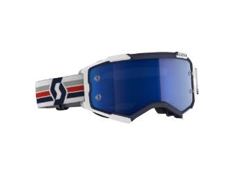Goggle Fury blue/white