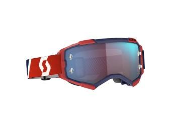 Fury Goggle Glas: blue chr work Rot/Blau