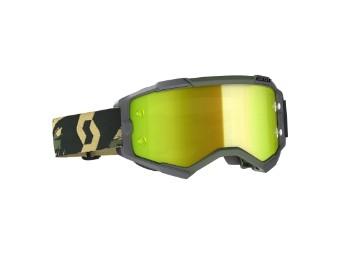 Fury Goggle Glas: yellow chro wks Camo Kaki