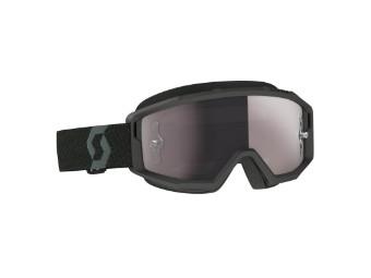 Goggle Primal Glas: silver chr wks Schwarz