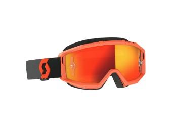 Goggle Primal Glas: orange chro wks Orange/Schwarz