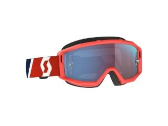 Goggle Primal Glas: blue chr work Rot/Blau