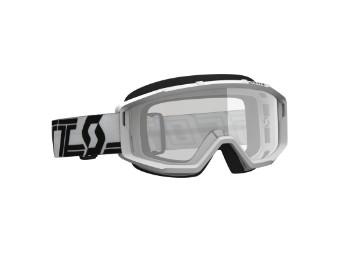 Goggle Primal clear Glas: clear Weiß/Schwarz