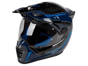 Krios Pro Carbon Adventure Helm Mekka Kinetik Blue
