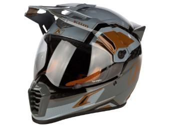 Krios Pro Carbon Rally Metallic Bronze Adventure Helm