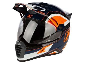 Krios Pro Carbon Rally Striking Orange Adventure Helm