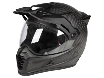Krios Pro Carbon Adventure Helm matt schwarz