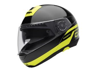 C4 Klapp-Helm Pulse Black (gelb)