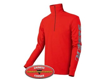 Comfort Shirt with Zip -fiery-red-