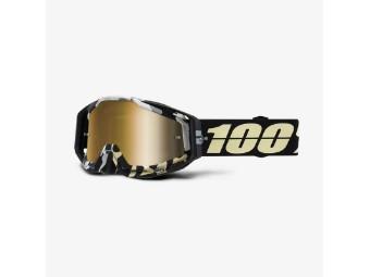 Racecraft Extra Ergoflash schwarz-gold MX Enduro Brille