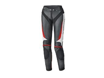 Lane 2 Damen Lederhose schwarz/weiß/rot