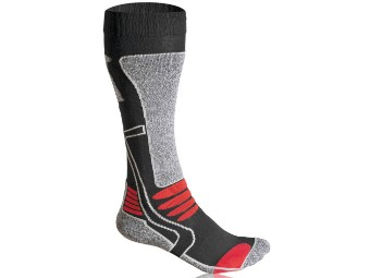 Motorrad Herren Socken lang Schwarz / Rot
